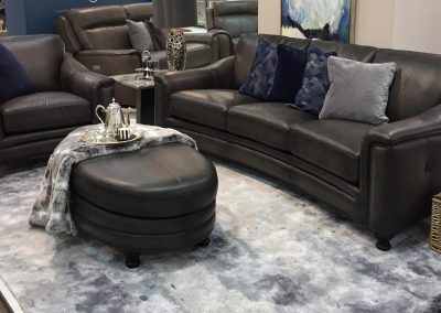 Louise Curved Leather Suite